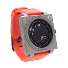 uNOVO watch Novo the UNKNOWN RAW and Red Square Face with Red Rubber Strap