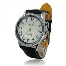 Classic Retro Big Round Dial Roman Number Quartz