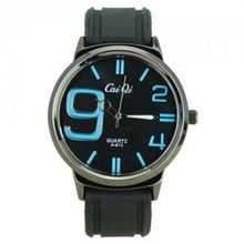 Elegant Quartz Movement Bright Color Graduation of Scale with Soft Silicone Band-Blue scale