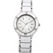 Oasis B1086 Ladies Silver and White Bracelet
