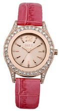 Oasis B1298 Ladies Pink Leather Strap
