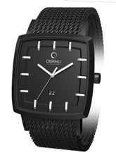 Obaku Harmony 40mm Wide Quartz with Black Mesh Bracelet V134GBBMB