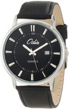 Odin 6002-5M Bk Precision Quartz 3-Hand Date with Leather Strap