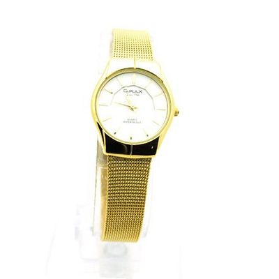 Gold 60's Vintage Timepiece Style Metal Mesh Bracelet Band for