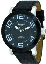 Omax #A001 Leather Band Oversized Domed Crystal