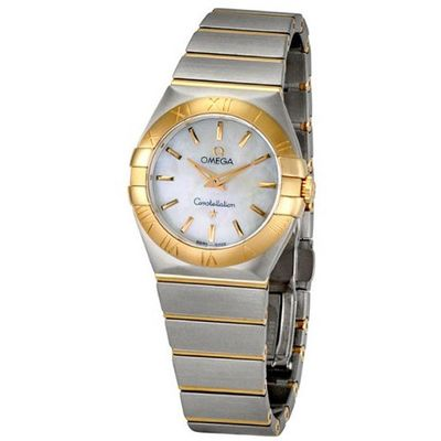 Omega Constellation Mother Of Pearl Dial Gold and Steel Ladies 12320276005001