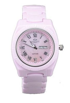 Oniss Pink Ceramic Day and Date ON7701-L/P