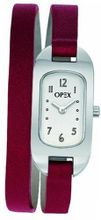 Opex Ballerine X0391LC1 Analog Quartz with Steel Dial, White Back and Double Red Leather Strap