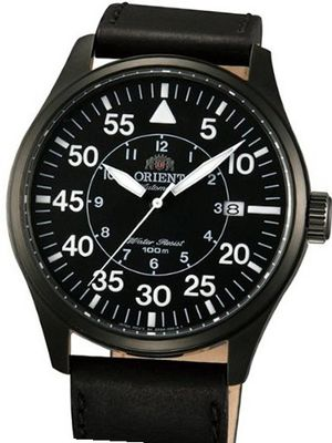 Orient 21-Jewel Automatic Aviator Flight with Black Leather Strap ER2A001B