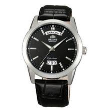 Orient 21-Jewel Automatic Day and Date with Black Dial and Black Strap EV0S004B