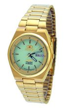 Orient #BEM1T00ZR Gold Tri Star Luminous Dial Self Winding Automatic