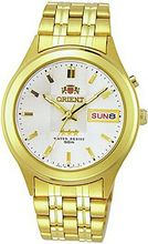 Orient #BEM5V001W Facet Glass Gold Tone Stainless Steel Automatic