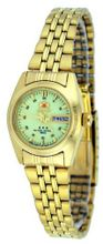 Orient #BNQ1W001R Gold Tone Tri Star Luminous Dial Automatic