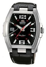 Orient #CERAL005B Leather Strap Silver Tone Black Dial Automatic