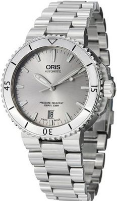 Oris Aquis Date Silver Dial Stainless Steel 01 733 7676 4141-07 8 21 10P