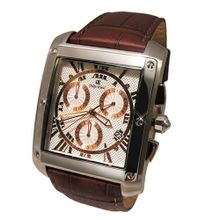 Oskar Emil Cambridge Gold/White Chronograpgh Gents With Date And Leather Strap