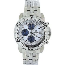 Oskar Emil Gents Casieum White Chronograph Stainless Steel Sports
