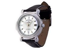 Ouyawei Black Leather Strap Round White Dial Mechanical es