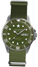 Oxygen Forest 44 unisex quartz with green Dial analogue Display and green nylon Strap EX-D-FOR-44-KA