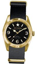 Oxygen Lingot 38 unisex quartz with black Dial analogue Display and black nylon Strap EX-S-LIN-38-BL