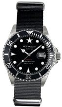 Oxygen Moby Dick 40 unisex quartz with black Dial analogue Display and black nylon Strap EX-D-MOB-40-BL