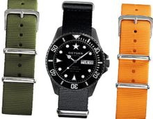 Oxygen Moby Dick Black 44 Set unisex quartz with black Dial analogue Display and multicolour nylon Strap EX-D-MBB-44-3S