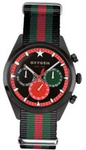 Oxygen Roma 40 unisex quartz with black Dial analogue Display and multicolour nylon Strap EX-SDT-ROM-40-BLGNRE