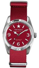 Oxygen Ruby 38 unisex quartz with red Dial analogue Display and red nylon Strap EX-S-RUB-38-RE