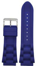 Panatime 24mm Blue Silicon Oyster Strap