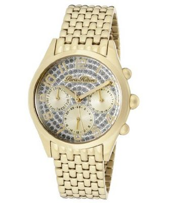 Beverly Silver Glitter Dial Gold Tone Ion Plated Stainless Steel
