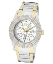 Heiress White Crystal White/Silver Glitter Dial Two Tone