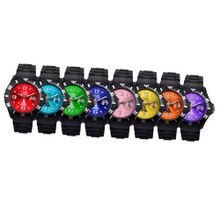 Paris Black and Colorful Dial Wrist for Woman Designed in France