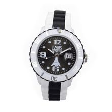 Paris Kids Silicone Quartz Calendar Date White and Multicolor Black Dial Designed in France Fashion