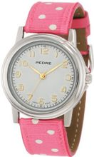 Pedre 0231SX Silver-Tone with Pink Polka Dot Grosgrain Strap
