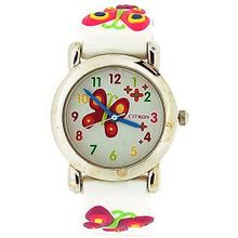 Citron Girls Butterfly with Flowers Pink Silicone Strap KID87