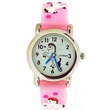 Citron Girls Dancing Pony Pink Silicone Strap KID86