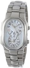Philip Stein 1-MOPGR-SS3 Signature Mother-Of-Pearl and Grey Accent Stainless Steel Bracelet