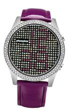 Phosphor MD018L Appear Purple Crystal with Purple Gloss Leather Strap