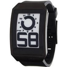 Phosphor Unisex DH04 Digital Hour E-INK Curved Black Ion-Plated Polyurethane Band
