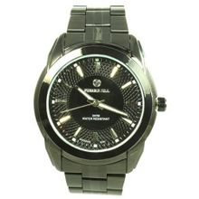 Pierre Jill in Black Dial Black Stainless Steel Bracelet
