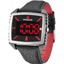 Police 13890JPBS-02 Countdown Red and Black Leather Strap