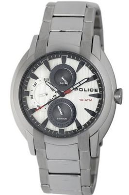 Police PL-12534JS/04M Independence White Dial Stainless Steel Band