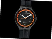 Porsche Design Flat 6 P'6350 Automatic PVD - Black and Orange