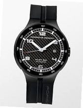 Porsche Design Flat Six Automatic , Carbon Dial, Black, 6350.43.04.1254
