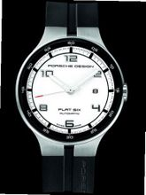 Porsche Design Flat Six Automatic , Sandblasted stainless steel - White