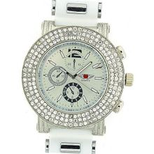 Prince London Gents Large Dial Chrono Effect White Rubber Strap Casual