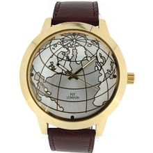 Prince London Globe Design Ivory Colour Dial Casual PL2083 Brown