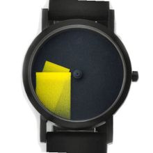 Déjà Vu Yellow Black Silicone Band, 33mm