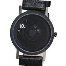 NEW 40mm, BLACK STEEL Reveal Leather Band