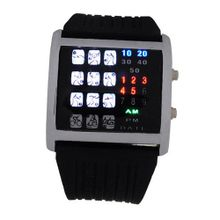 29 Colorful LED Binary Digital Wrist with Sports Pattern Black - JUST ARRIVE!!!